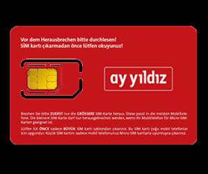 Ay-yildiz Prepaid SIM-Karte: Kein Vertrag & Volle Kostenkontrolle