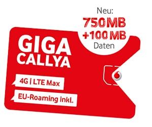 Vodafone Freikarte: Prepaid CallYa SIM-Karte