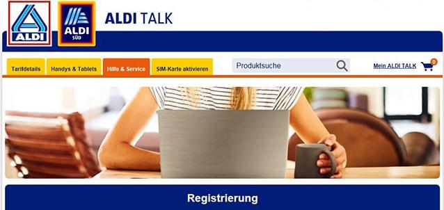 ALDI TALK Prepaid Registrierung