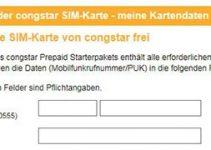 congstar Prepaid SIM Karte freischalten