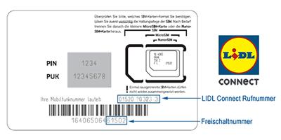 LIDL Connect Prepaid Karte freischalten, registrieren und aktivieren