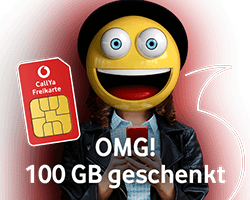 Top Angebot: 100 GB Datenvolumen bei Vodafone CallYa