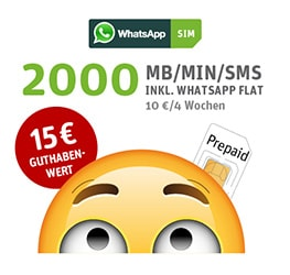 WhatsApp SIM inkl. WhatsAll 2000 Option