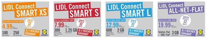 Lidl Connect Prepaid Karten im Vergleich
