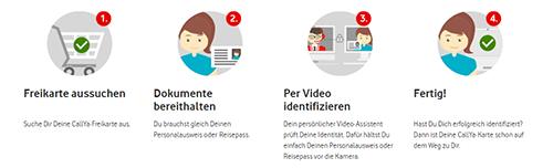 Vodafone CallYa Prepaid Karte aktivieren und registrieren