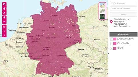 LTE Netz in Deutschland