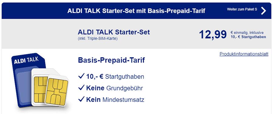 Prepaid Tarife von ALDI im Überblick