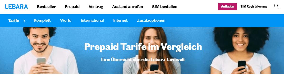 Prepaid Tarife von Lebara im Überblick