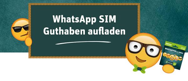 Das Guthaben der WhatsApp SIM lässt sich auf unterschiedliche Art und Weise aufladen