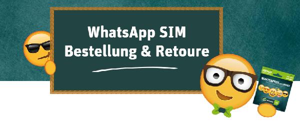 Das sind die Bestellmöglichkeiten der WhatsApp SIM