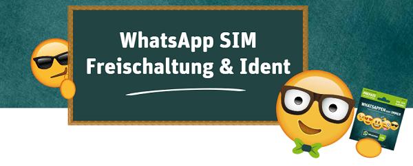 So erfolgt die Freischaltung & Identifizierung bei WhatsAppSIM