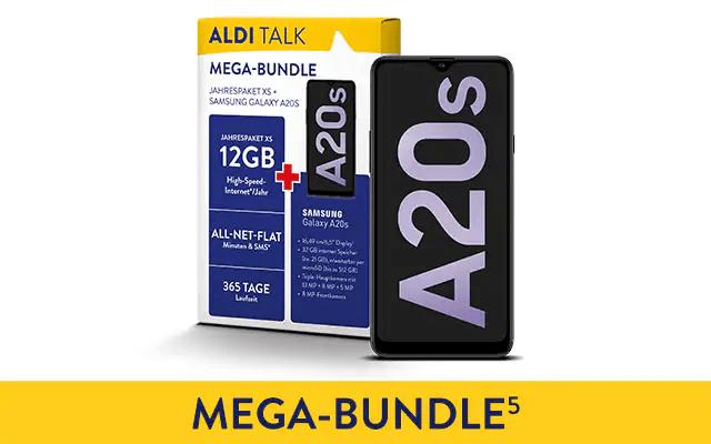 ALDI TALK Jahrespaket XS + Samsung Galaxy A20s