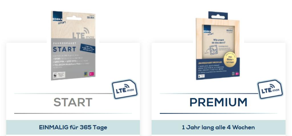 Jahrespakete von EDEKA smart im Vergleich