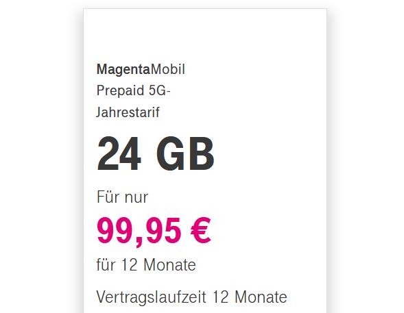 Jahrespaket von der Telekom