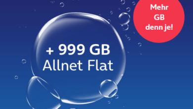 o2 my Prepaid Max: 999 GB + Allnet-Flat - 69,99 € / 4 Wochen